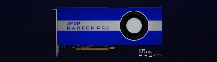 AMD a lansat Radeon Pro W5700 - GPU pe 7nm