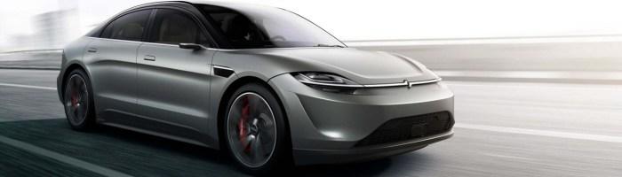 Sony a prezentat un vehicul electric