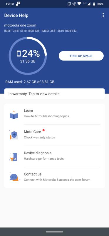 Motorola Moto One Zoom Storage2