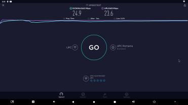 Speedtest prin Wi-Fi 2.4 Ghz