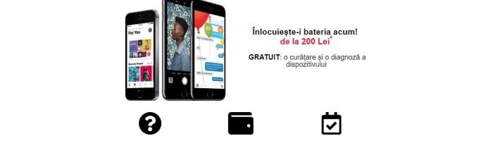 Oferta la iStyle - inlocuieste bateria iPhone-ului cu 200 lei