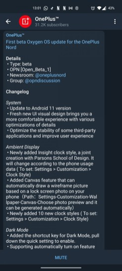 OnePlus Nord_Settings_OS_update_beta11