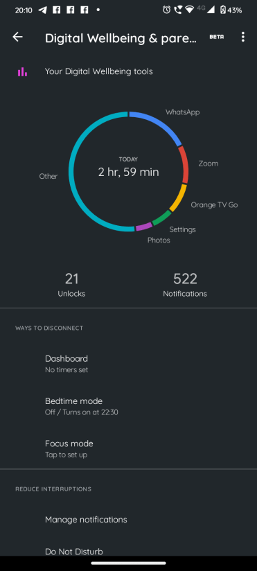 Motorola Moto G30_Digital Wellbeing