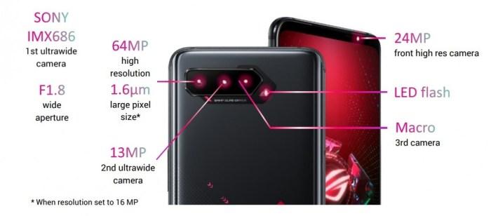 Camere ASUS ROG Phone 5