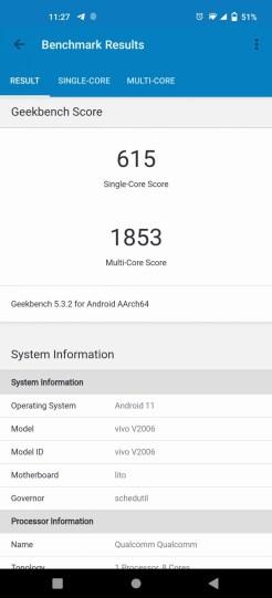 vivo X51 5G (PCMark)