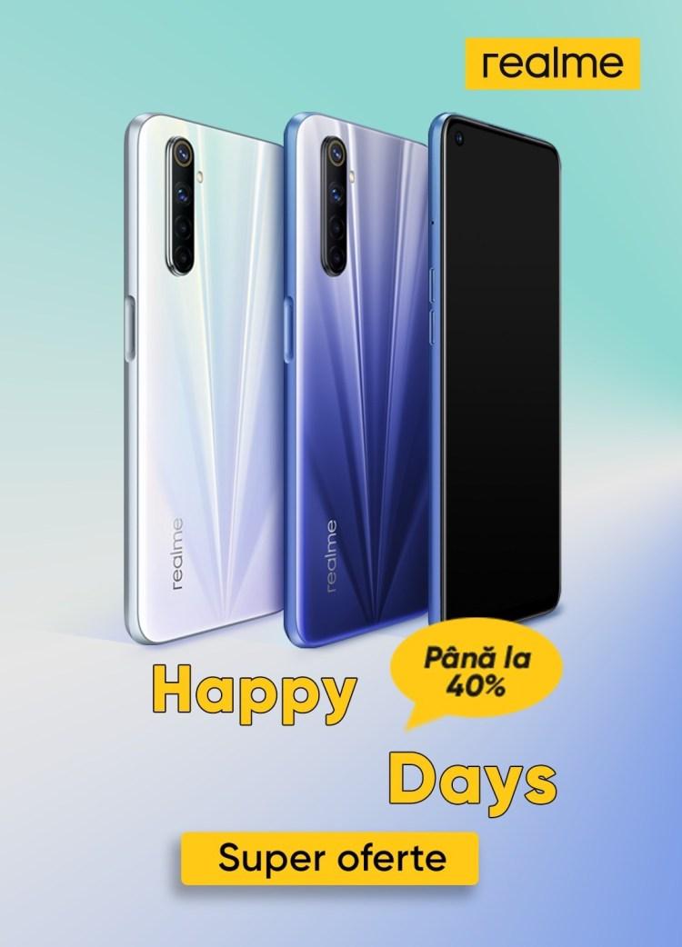 Telefoane realme la oferta in cadrul Happy Days