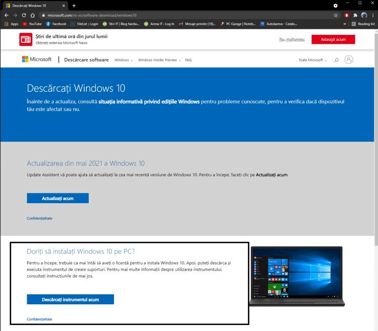 Cum sa iti descarci gratuit Windows 10 si cum sa-l activezi cu o licenta ieftina