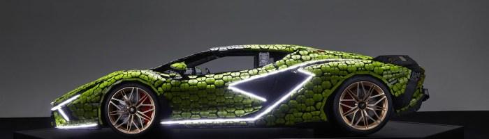 O macheta 1:1 Lamborghini Sian a fost realizata complet din piese Lego