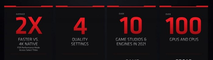 AMD a lansat FidelityFX Super Resolution- adica o forma proprietara de DLSS