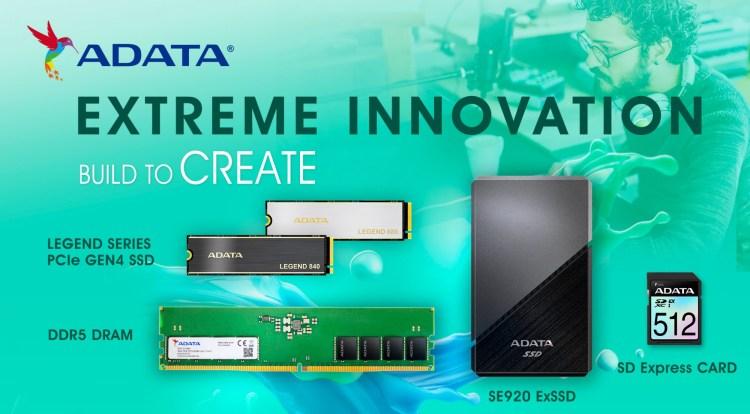 ADATA Xtreme Innovations: noi SSD-uri, memorii RAM DDR5, laptopuri și periferice de gaming