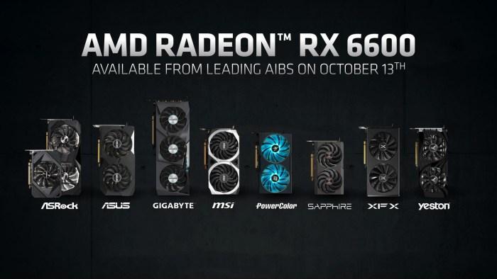 AMD dezvăluie Radeon RX 6600 - placă video mainstream RDNA2 cu preț recomandat de 329 dolari