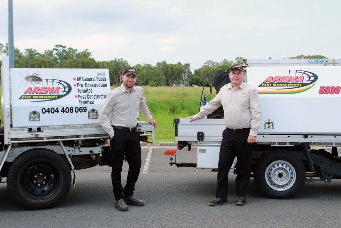 arena pest management team and trucks