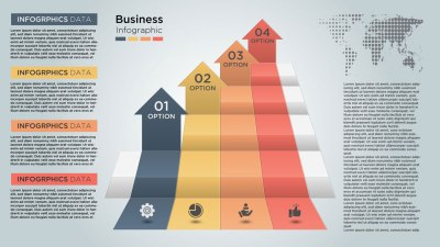 Abstract Modern Business Infographics Vector