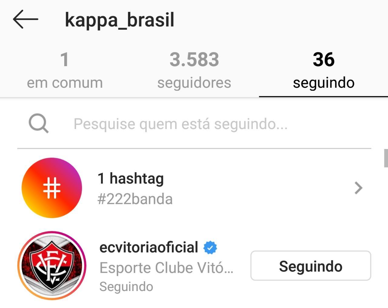 A notícia do acerto começou a ser ventilada nas redes sociais após o perfil  da Kappa no Instagram seguir a conta do Vitória. Confira  6364ab0e62f04