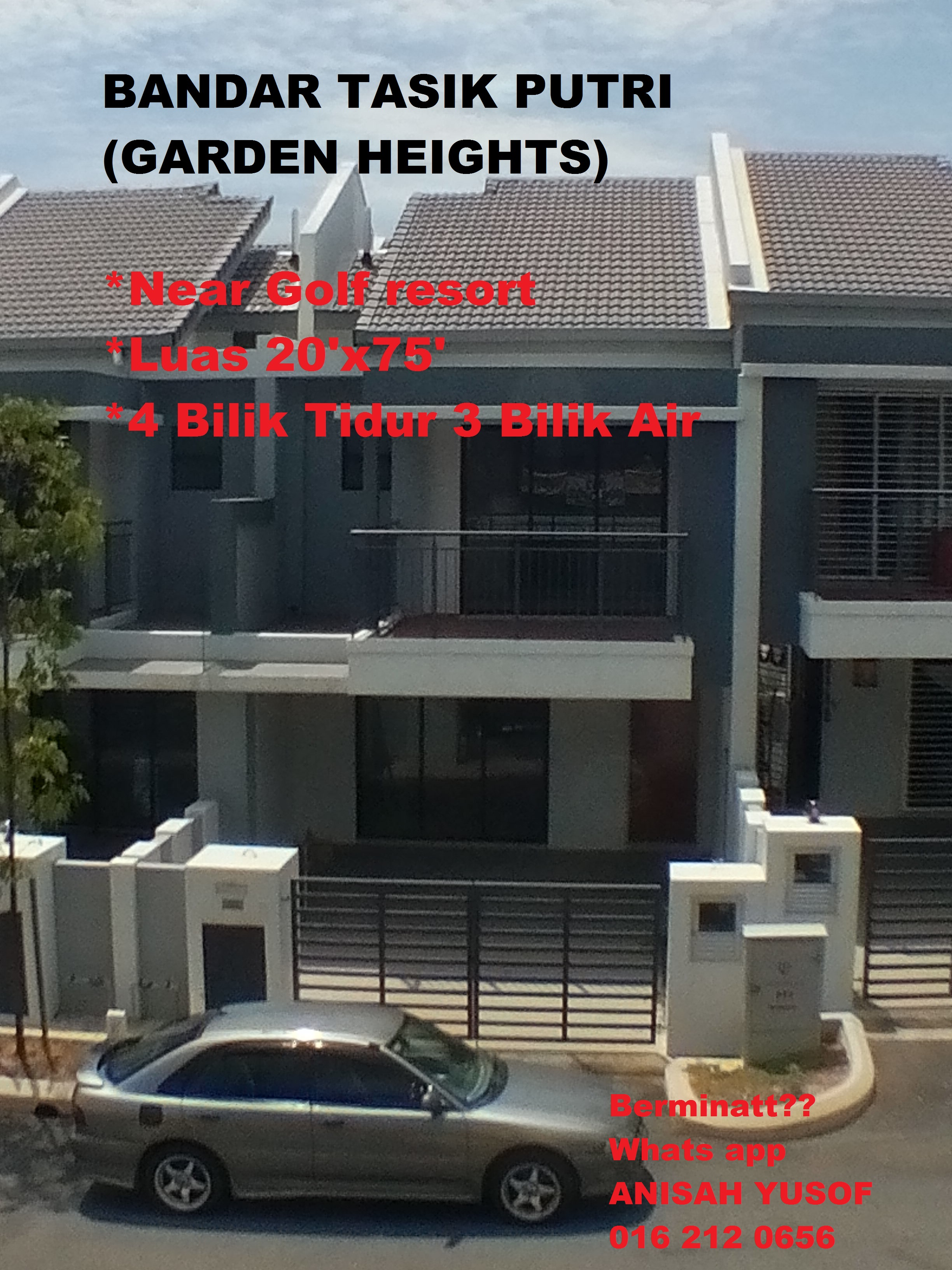FOR SALE MAMPU MILIK NEW DOUBLE STOREY HOUSE AT GARDEN HEIGHTS (PHASE 3 )