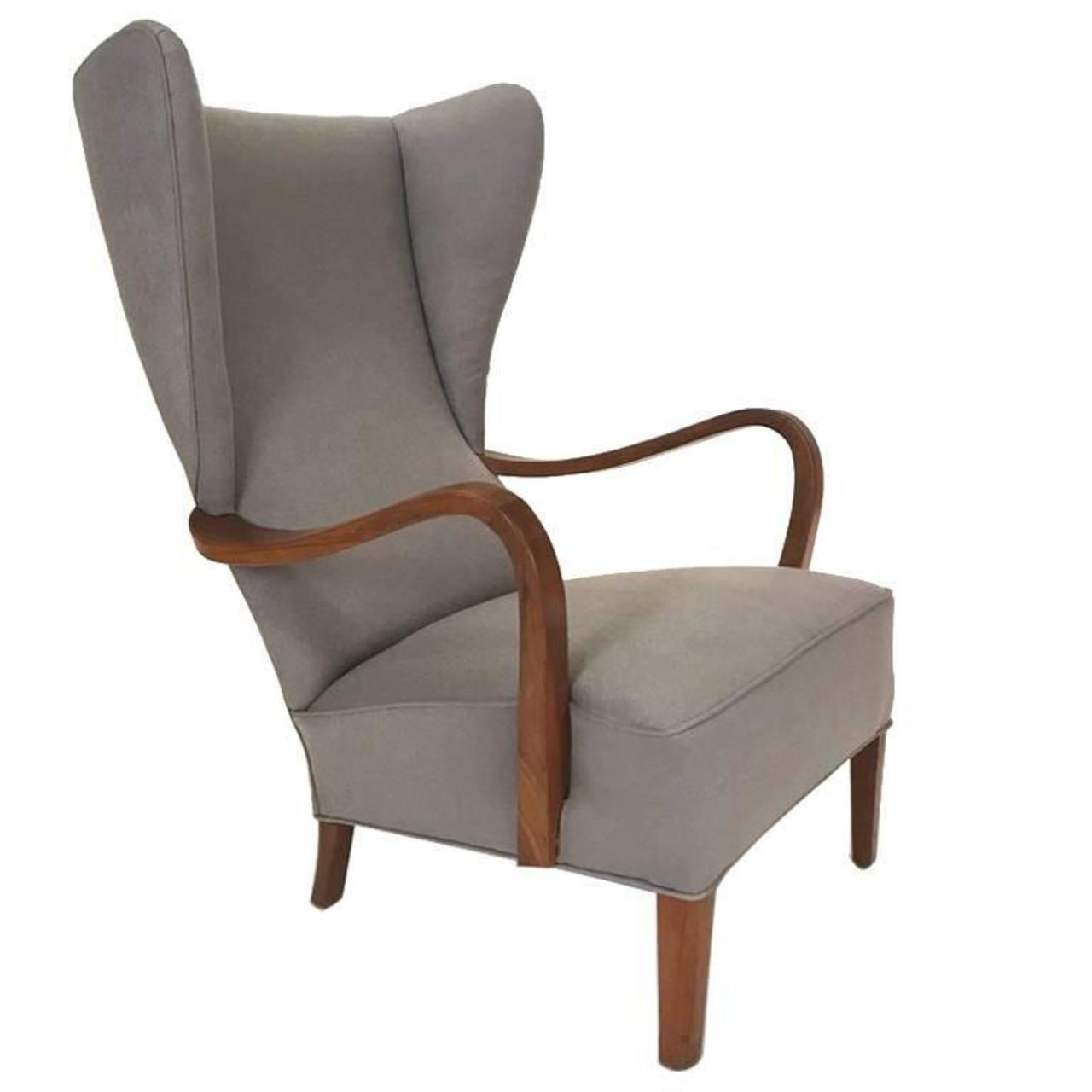 Danish Modern Lounge Chair Wingback Lounge Chair Danish Modern Arenskjold