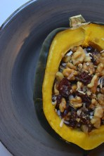 Baked Acorn Squash with Walnuts and Cranberries
