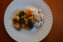 Mediterranean Tempeh with Apricots and Capers