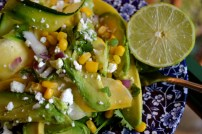 Zucchini Ribbon Salad with Sweet Corn, Avocado, & Feta