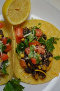 Spiced Black Bean and Corn Tacos