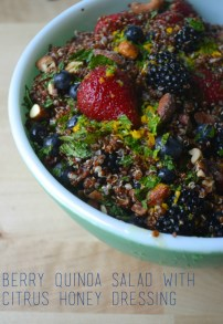 Berry Quinoa Salad with Citrus Honey Dressing