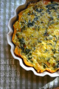 Sweet Potato Crusted Spinach Quiche
