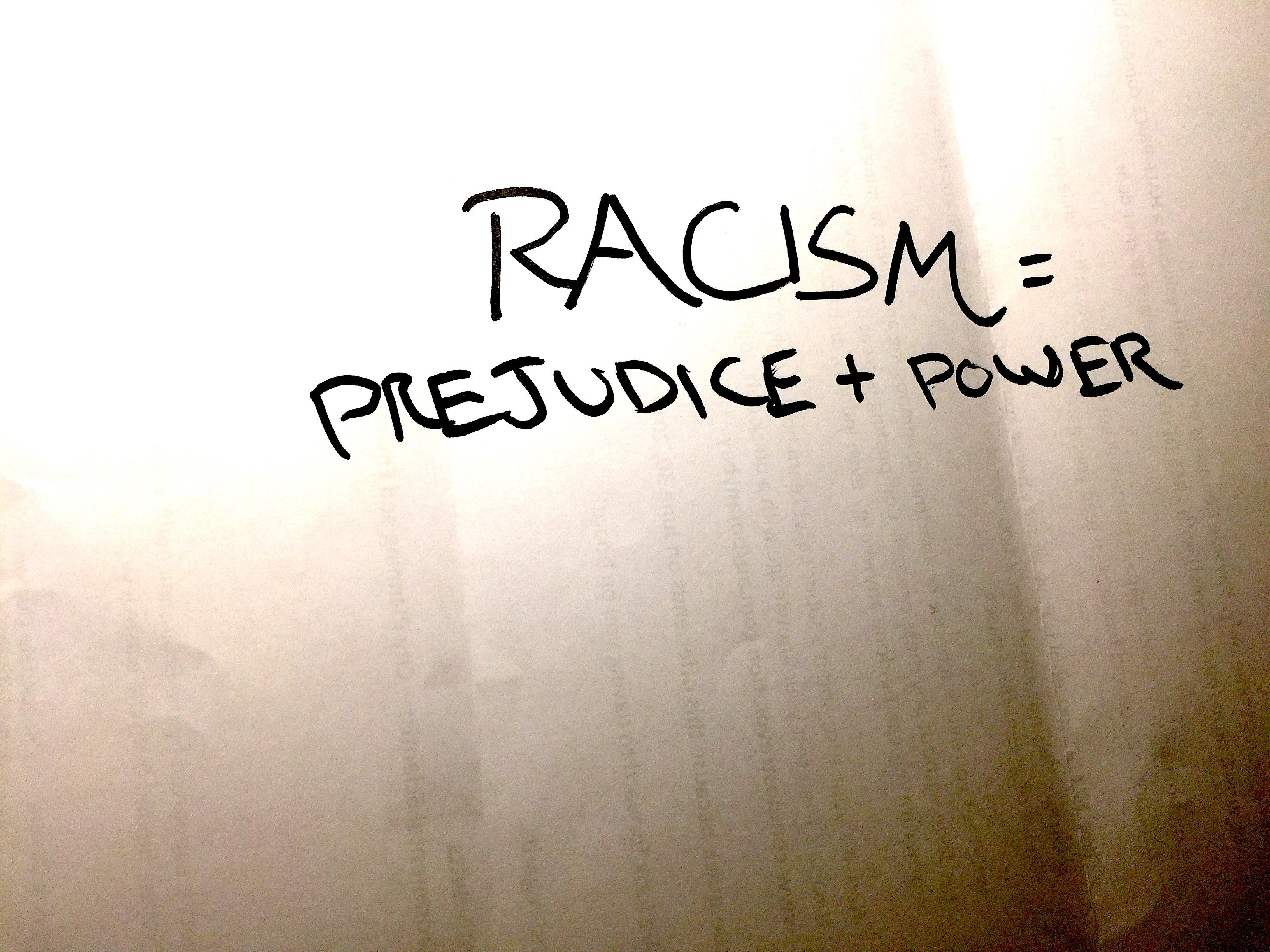racism does not equal prejudice + power - areo