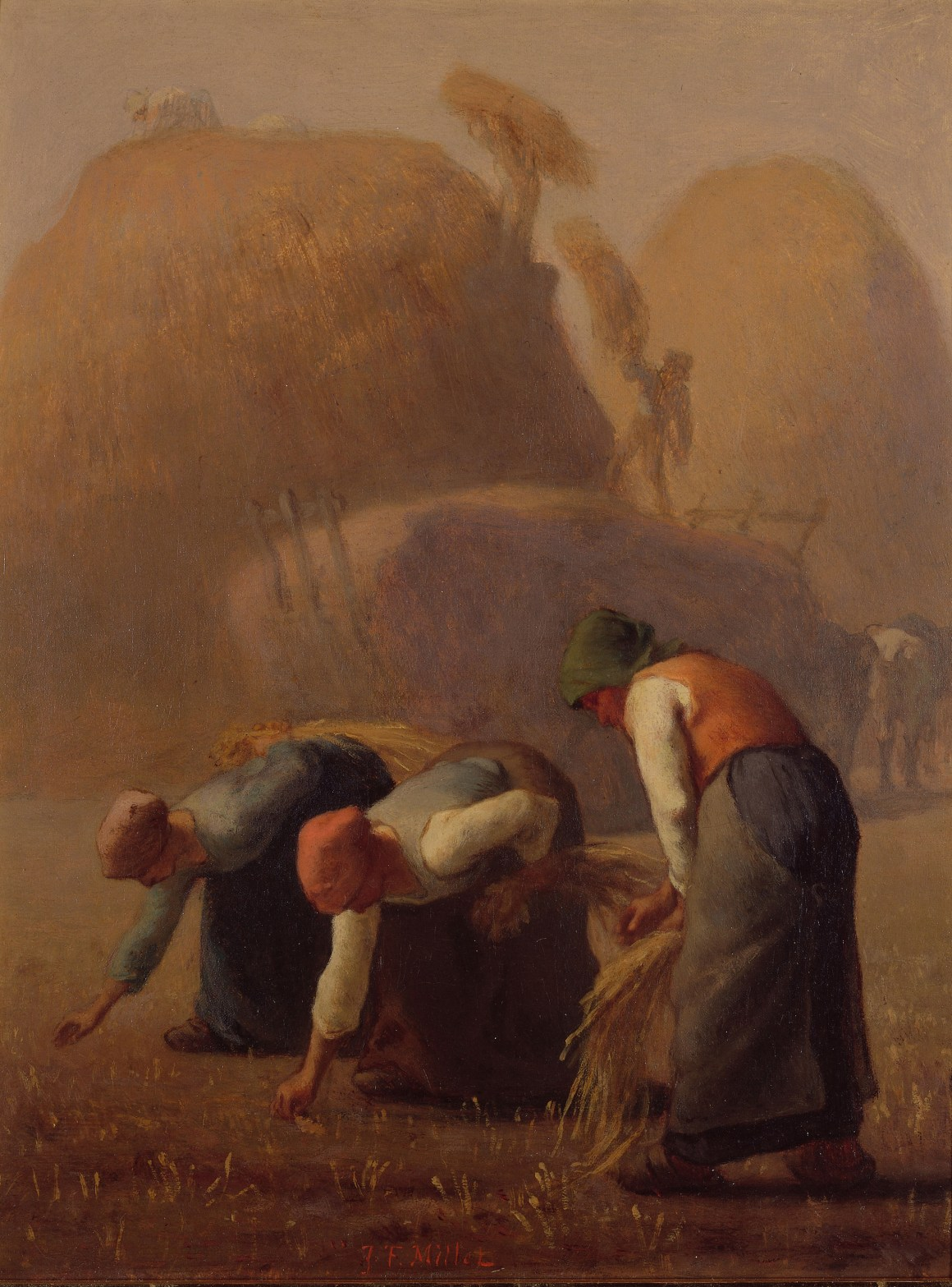Jean-François Millet, French, 1814–1875; Summer, The Gleaners, 1853; oil on canvas; 15 1/16 × 11 9/16 inches; Yamanashi Prefectural Museum of Art 2020.80