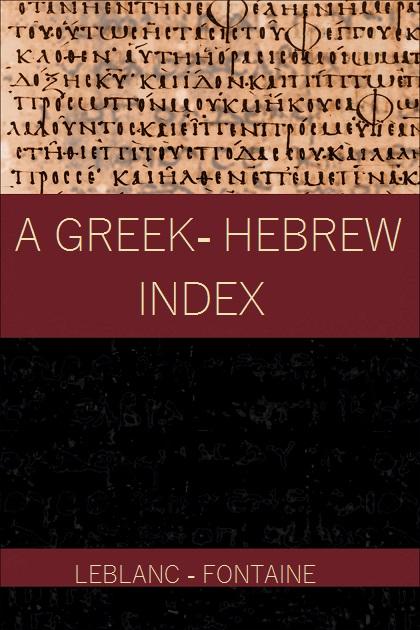 A Greek - Hebrew index
