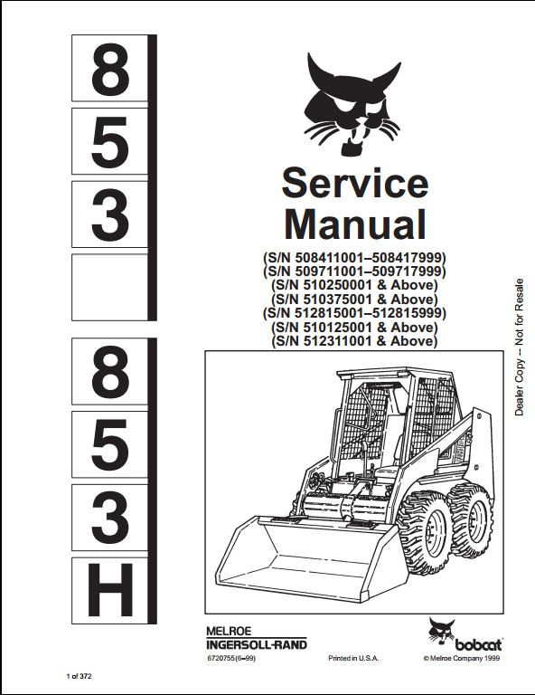 610 Bobcat Skid Loader Parts Diagrams, 610, Free Engine