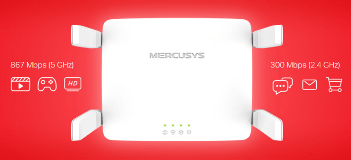Router Mercusys AC10 AC1200