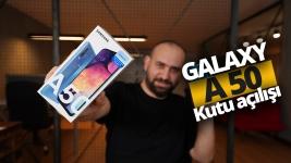 Samsung Galaxy A50 kutusundan çıkıyor!