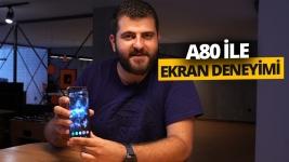 Çentiksiz ekranlı Galaxy A80 ile oyun deneyimi