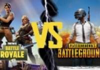 PUBG vs Fortnite Battle Royale