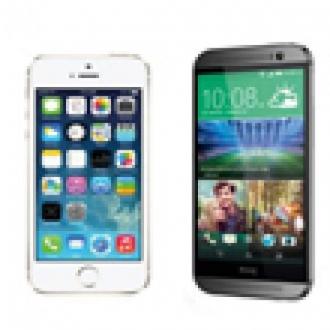 HTC One M8 ile iPhone 5s Karşı Karşıya