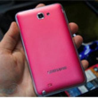 Samsung'dan Pembe Galaxy Note