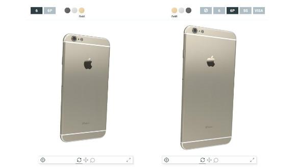 iPhone 6 Modellerini 3D Karşılaştırın!