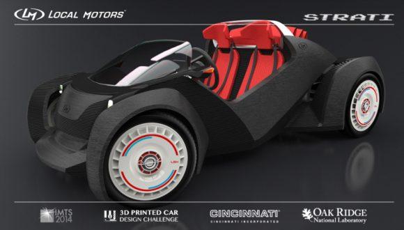 Bu Otomobil 3D Yazıcıyla Yapıldı