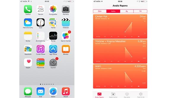 iOS 8 ile Günlük Hareketlerinizi Görüntüleyin