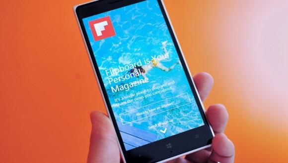 Flipboard Alt Seviye WP Cihazlara Geliyor