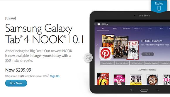 Samsung Galaxy Tab 4 Nook 10.1 Çıktı!