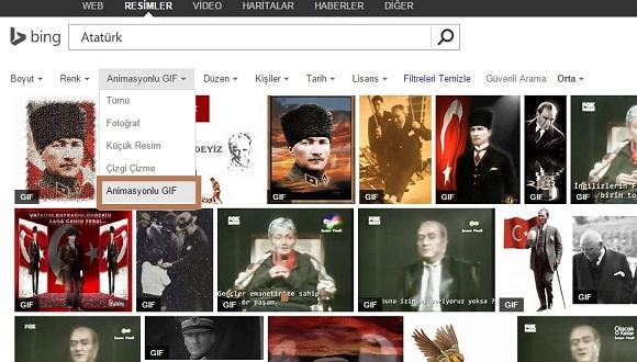Bing'e Animasyonlu GIF Arama Özelliği!