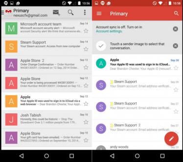 Yenilenen Gmail 5.0 Ortaya Çıktı