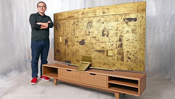 Samsung Altın Kaplama TV Üretti