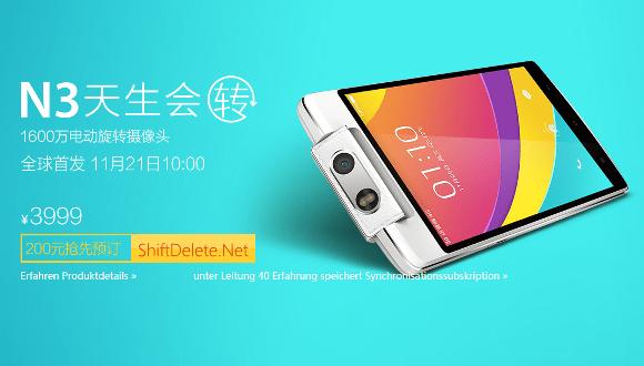 Oppo N3, Çin'de Satışa Sunuldu