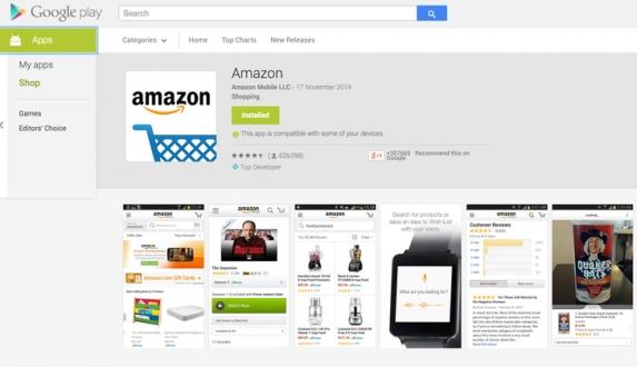 Google, Amazon Uygulamasını Sildi!