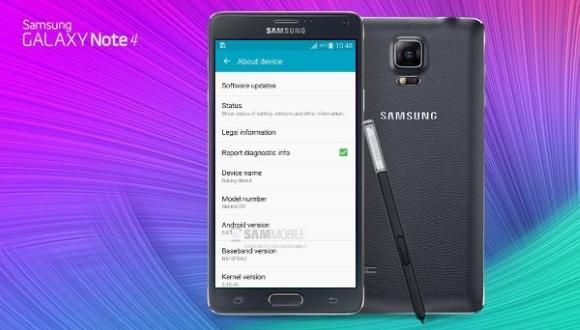 Note 4, Android 5.0.1'e Güncellenecek