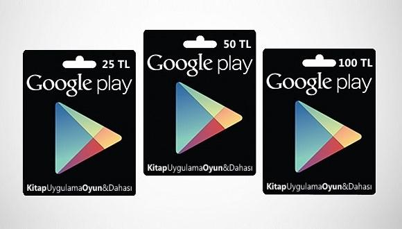 Google Play Store Kartları Avrupa'da