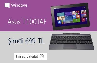Windows'lu Asus T100TAF Fırsatını Kaçırmayın!