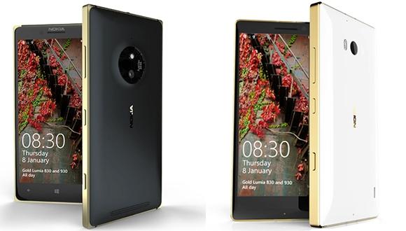 Altın Lumia 830 ve Lumia 930 Geliyor